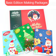 Load image into Gallery viewer, (2 Types) DIY Kits Christmas Basic Cardmaking Material Packages