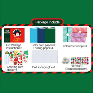 (2 Types) DIY Kits Christmas Basic Cardmaking Material Packages