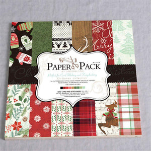 12-Inch Colourful Creation Christmas Series Paper (24PCS)