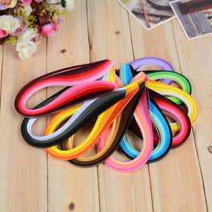 (9 Types) Mixed-Color Decoration Pressure Relief Gift DIY Quilling/Origami Craft Paper<100PCS/5mm>