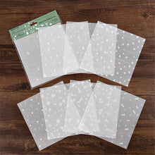 Load image into Gallery viewer, (6 Types) 6-Inch DIY White Ink Metallic Scrapbooking Translucent Papers <8 PCS>