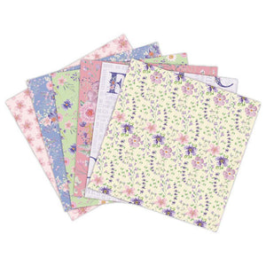 (3 Types) 6-Inch DIY Album Scrapbook Notebook Greeting Card Background Paper<24 PCS>