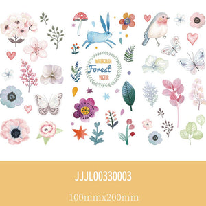 (11 Types)Cartoon and Daily Viscous  Decorative  Stickers<25pcs>