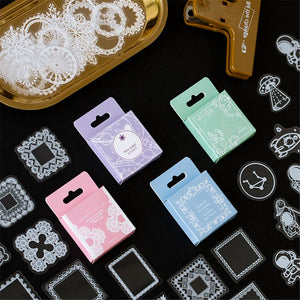 (4 Types)DIY Cute and Elegant Decorative Box-Packed Stickers <50pcs>