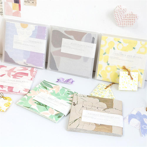 (6 Types)Cute Colorful Patterned Scropbooking Background Paper<40pcs>