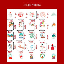 Load image into Gallery viewer, (4Types)Christmas Series Cute DIY Scrapbooking Stickers<50pcs>