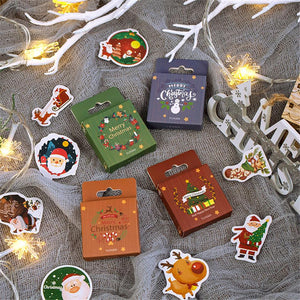 (4Types)Christmas Series Cute DIY Scrapbooking Stickers<50pcs>