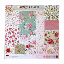 Load image into Gallery viewer, 6 Inch BRONTE CHARM Flower Theme Background Pattern Paper<24 PCS>