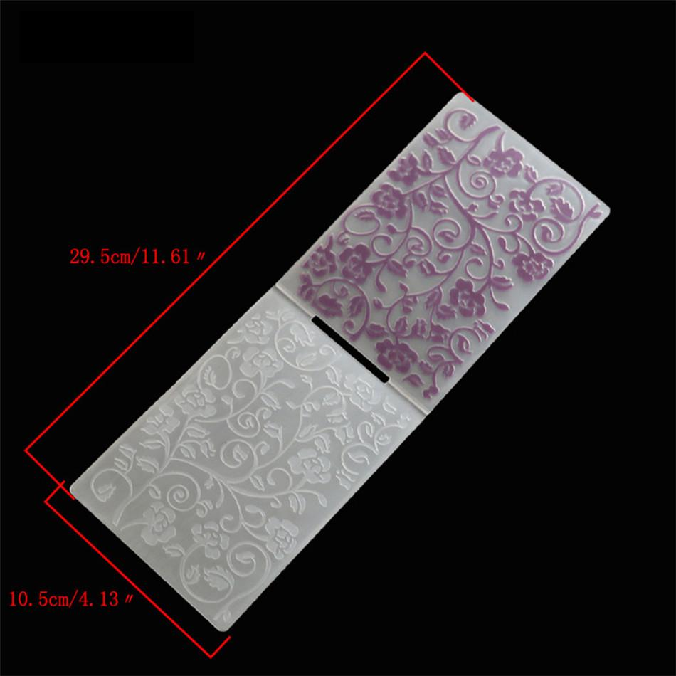 1PCS Plastic flower Embossing Folder