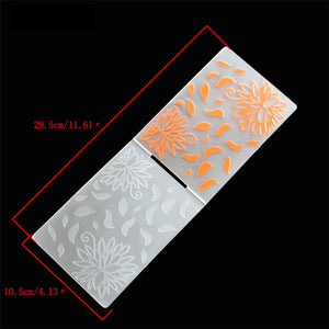 1PCS Plastic Hollow Flower Embossing Folder