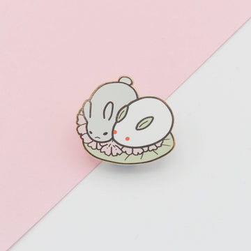 Rabbit Wagashi enamel pin
