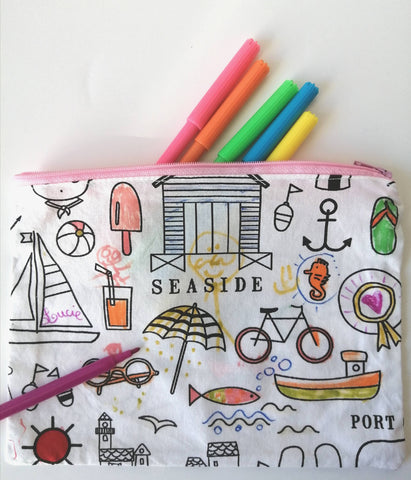 Trousse à colorier à l'infini - seaside -