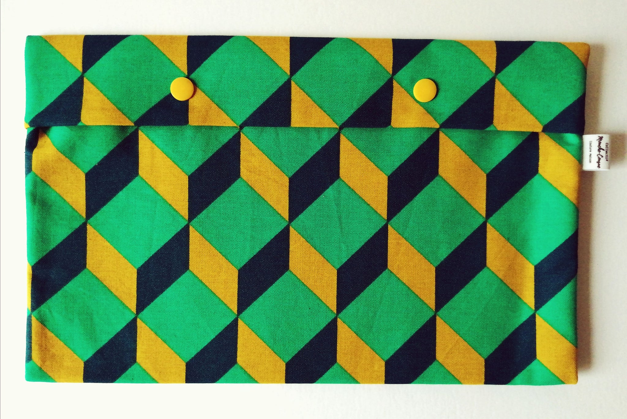 Pochette 'Swimming Pal' - cubic green -