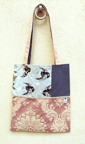 Sac Mouche Deluxe - pearl pink bird