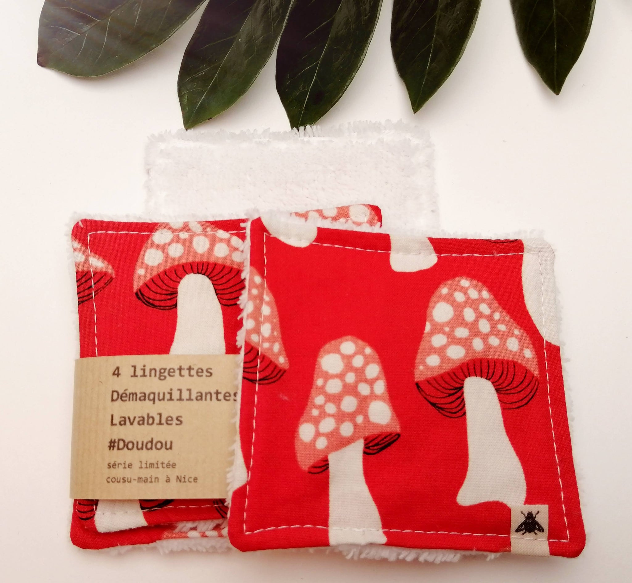 4 Lingettes démaquillantes lavables doudou - magic mush -