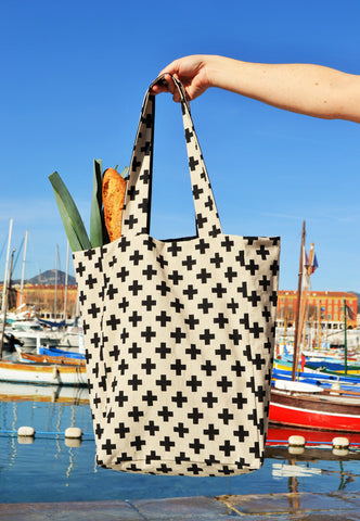 Culbuto - grand sac cabas réversible 5 poches - graphic pattern New-Wave +