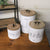 White Tin Canisters - Set of 3