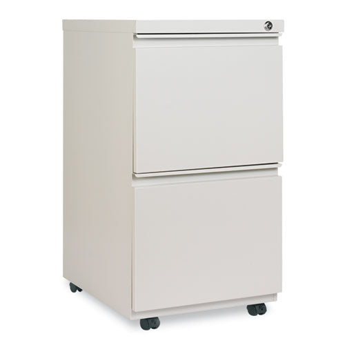 Two-Drawer Metal Pedestal File With Full-Length Pull, 14.96w x 19.29d x 27.75h, Light Gray