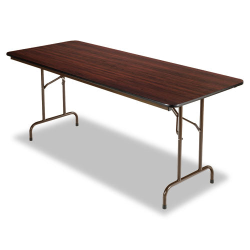 Wood Folding Table, Rectangular, 71 7/8w x 29 7/8d x 29 1/8h, Mahogany