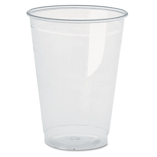 Clear Plastic PETE Cups, 16oz, 70/Bag, 10 Bags/Carton