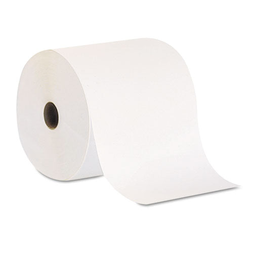 Pacific Blue Basic Nonperf Paper Towel Rolls, 7 7/8 x 800 ft, White, 6 Rolls/CT