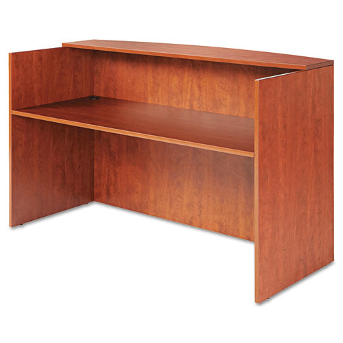 Alera Valencia Series Reception Desk w/Counter, 70 7/8w x 35 3/8d x 42 1/2h, Cherry