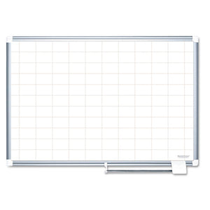 Grid Planning Board, 2 x 3 Grid, 72 x 48, White/Silver