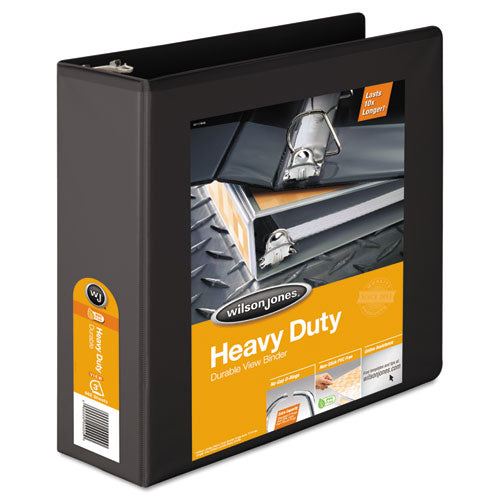 Heavy-Duty D-Ring View Binder with Extra-Durable Hinge, 3 Rings, 3