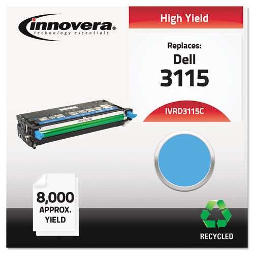 Remanufactured 310-8379 (3115) High-Yield Toner, 8000 Page-Yield, Cyan