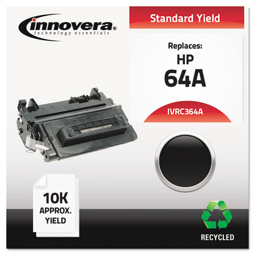 Remanufactured CC364A (64A) Toner, 10000 Page-Yield, Black