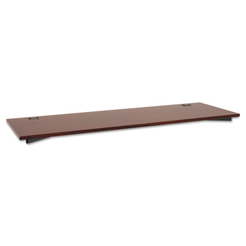 Manage Series Worksurface, Laminate, 72w x 23-1/2d x 1h, Chestnut