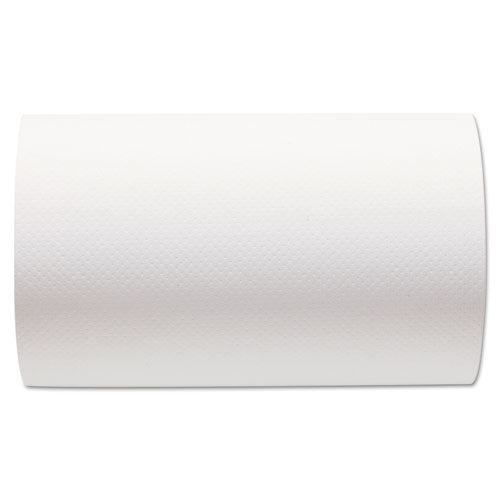 Hardwound Paper Towel Roll, Nonperforated, 9 x 400ft, White, 6 Rolls/Carton