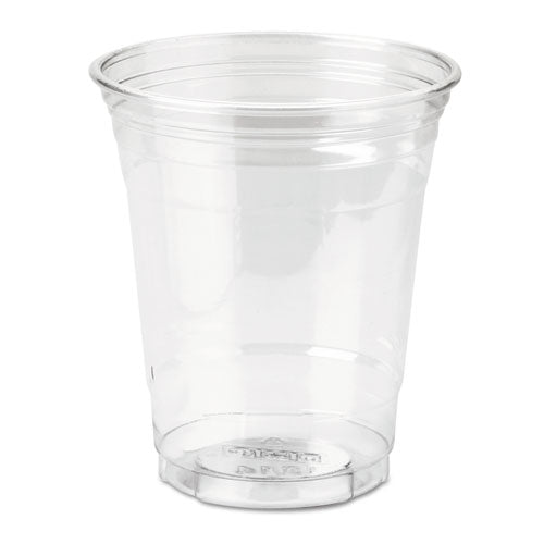 Clear Plastic PETE Cups, Cold, 12oz, WiseSize, 25/Pack, 20 Packs/Carton