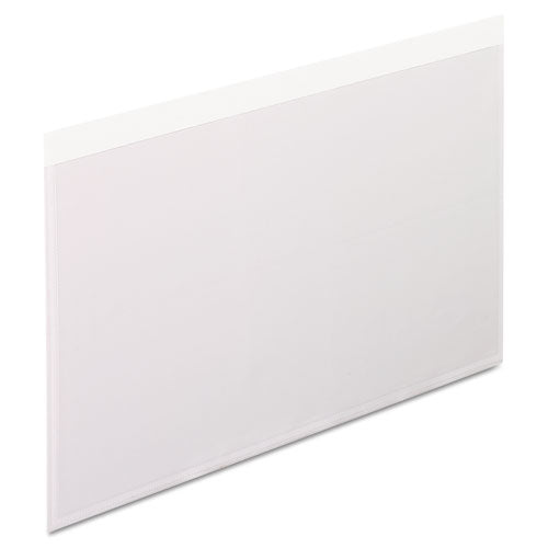 Self-Adhesive Pockets, 5 x 8, Clear Front/White Backing, 100/Box