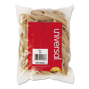 "Rubber Bands, Size 64, 0.04"" Gauge, Beige, 4 oz Box, 80/Pack"