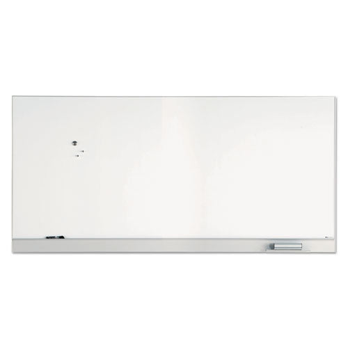 Magnetic Dry Erase Board, Coated Steel, 96 x 46, Aluminum Frame