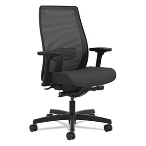 Endorse Mesh Mid-Back Work Chair, Supports up to 300 lbs., Black Seat/Black Back, Black Base