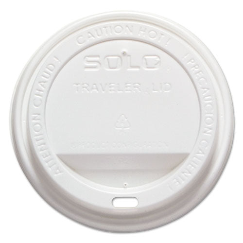Traveler Drink-Thru Lid, Fits 12-16 oz Cups, White, 1000/Carton
