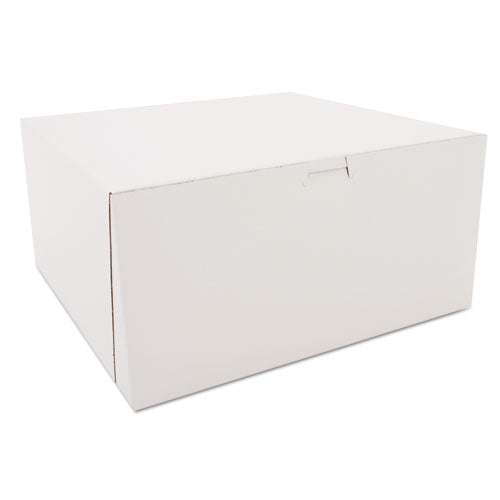 Tuck-Top Bakery Boxes, White, Paperboard, 12 x 12 x 6