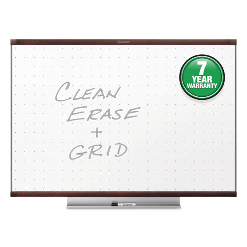 Prestige 2 Total Erase Whiteboard, 96 x 48, Mahogany Color Frame