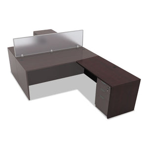 Alera Valencia Series Reversible Return/Bridge Shell, 47 1/4w x 23 5/8d x 29 1/2h, Mahogany