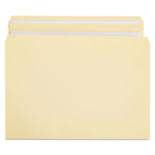 Double-Ply Top Tab Manila File Folders, Straight Tab, Legal Size, 100/Box