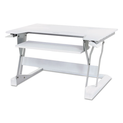 WorkFit-T Desktop Sit-Stand Workstation, 35w x 22d x 20h, White