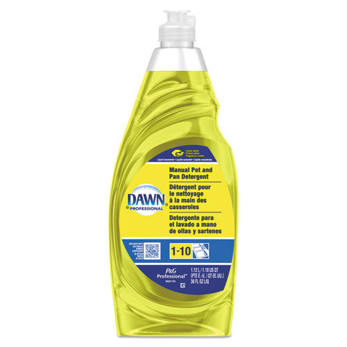 Manual Pot & Pan Dish Detergent, Lemon, 38 oz Bottle, 8/Carton