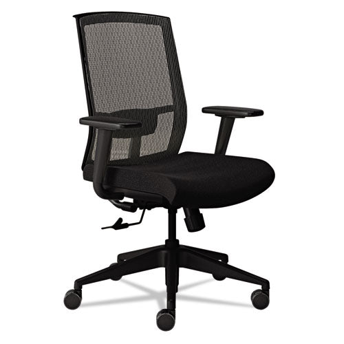 Gist Multi-Purpose Chair, Supports up to 300 lbs., Silver Seat/Black Back, Black Base