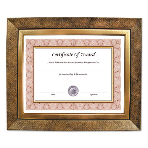 Executive Series Document and Photo Frame, 8 x 10, Gold Frame
