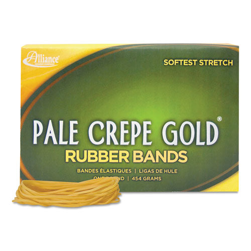 Pale Crepe Gold Rubber Bands, Size 19, 0.04