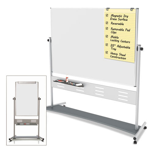 Magnetic Reversible Mobile Easel, 35 2/5w x 47 1/5h, 80