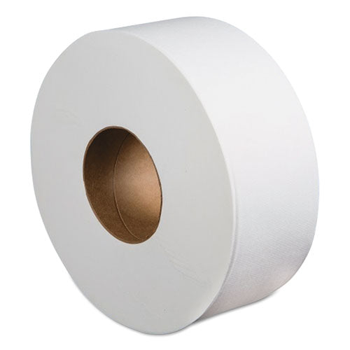 Jumbo Roll Bathroom Tissue, Septic Safe, 2-Ply, White, 3.4