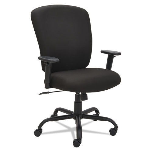 Alera Mota Series Big and Tall Chair, Supports up to 450 lbs., Black Seat/Black Back, Black Base